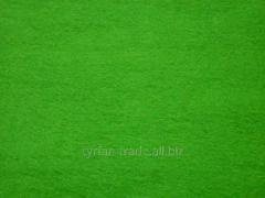 Фетр натуральный цветной зеленый
