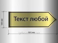 """Информационная табличка указатель """"текст"""