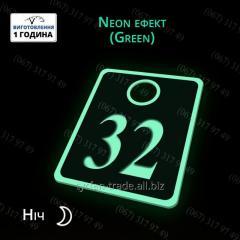Номерки для ключей из металла светящиеся в темноте без батареек и электричества