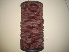 Резинка шляпная 2.8 мм красно-черная