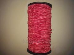 Резинка шляпная 3 мм красно-белая