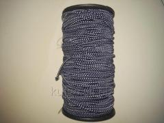 Резинка шляпная 3 мм темно-сине-белая