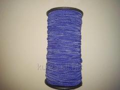 Резинка шляпная 2.8 мм электрик с белым