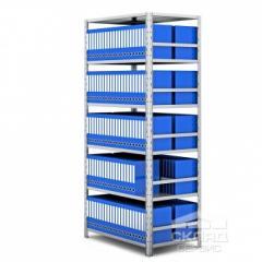 Pastas de arquivo bilaterais cremalheira 2100h1000h600 mm (6 yar. H140)