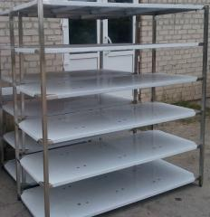Commercial kitchen shelving