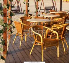 Мебель для кафе плетеная, мебель из лозы для кафе