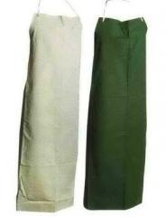 Фартук прорезиненный,  цвет: зеленый,  белый