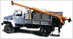 Burilno - crane cars on the chassis GAZ, MTZ, HTZ