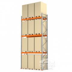 Стеллажи паллетные 6000(h)х2700х1100 мм (пол + 3