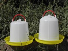 Vacuum drinking bowls for poultry (suspended),