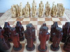Шахматы ручной работы резьблённые из качественного