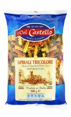 """№573 Макарони Спіральки кольорові """"Del Castello"""""""