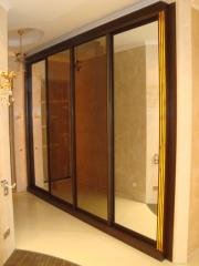Mirror sliding wardrobes to order Kiev, Brovara