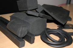 Cord rubber rectangular section