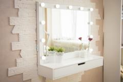 Подвесное гримерное зеркало №10 с подсветкой