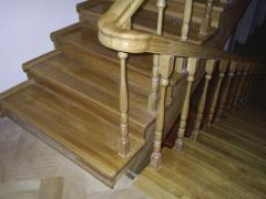 Перила, поручни деревянные, Лестницы деревянные,
