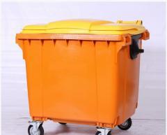 Мусорные контейнеры для ТБО (1100 л) Желтый
