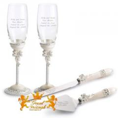 Wedding glasses and devices for Luxury cake