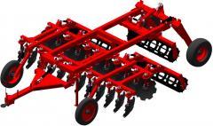 Агрегат почвообрабатывающий полунавесной АГН-4-2,  Предназначен для основной и предпосевной обработки почвы под зерновые и технические культуры.