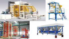 Vibrating presses for production of paving slabs,