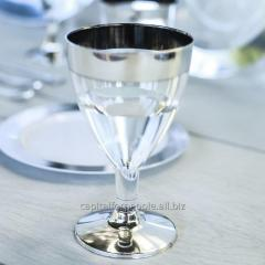 Wine glass 130 ml disposable tableware 6 pieces