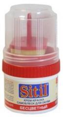 Крем для обуви Sitil 60мл банка нейтральный 1/96