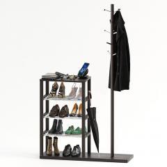 Подставка для обуви с вешалкой для одежды Fenster Канзас Венге