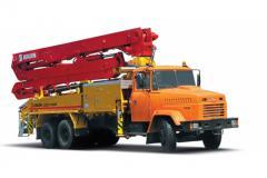 Автобетононасос КрАЗ 65053