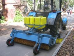 Щетка на трактор с бункером 0,45 м³ зима-лето