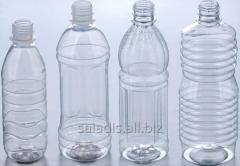 Вторичное сырье ПЕТФ-бутылка прозрачная, голубая,