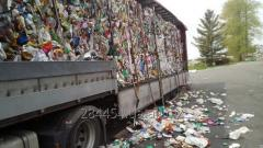 HDPE waste - bottle, canister, Recycled materials.
