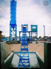 Бетонный завод АБСУ-25 (скип/конвейер)