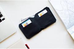Кожаный бумажник — FRANK (Black)