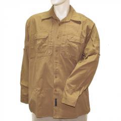 Рубашка длинный рукав койот