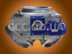 КДЭ-500, Клапан перекидной маятниковый симметричный\двусторонний электрический, сечение 500х500