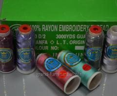 Нитки RAYON. Нитки для машинной вышивки 100% Rayon
