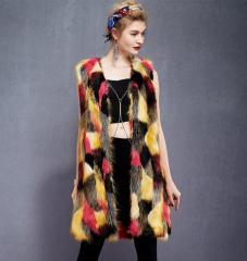 Длинные меховые женские жилеты-(casaco de...
