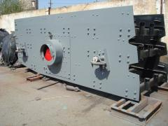 Conveyor grizzly vibrating feeders