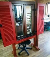 Wooden window shutters (external and internal)