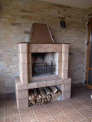 Ceramic tiles for facing of fireplaces, walls,