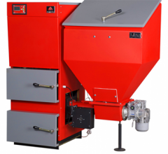 The steel boiler with automatic supply of solid
