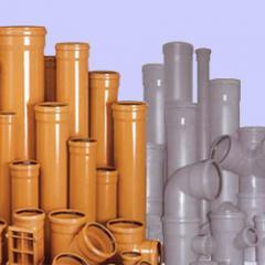 Трубы канализационные пластиковые.
