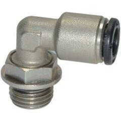 Male elbows, swivel type, parallel male thread
