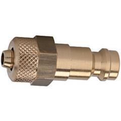 Plug DN 5, brass with a bare metal surface, for hose - K-NIPPEL NW5 SCHL MS
