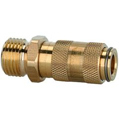 Quick disconnect couplings DN 2.7, brass with a bare metal surface, male - K-SVKM NW 2,7 AG MS BL