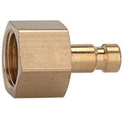 Plugs DN 2.7, brass with a bare metal surface, female - K-NIPPEL NW2,7 IG MS BL