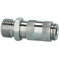Quick disconnect couplings DN 2.7, nickel-plated brass, male - K-SVKM NW 2,7 AG MS NI