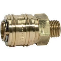 Quick disconnect couplings DN 7.2, brass with a bare metal surface, male - K-SVKM NW 7,2 AG MS-BL CL