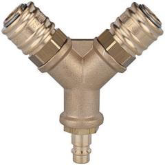 Distributors with 2 quick disconnect couplings DN
