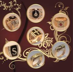 Перстни золотые, печатки, кольца мужские, кольца